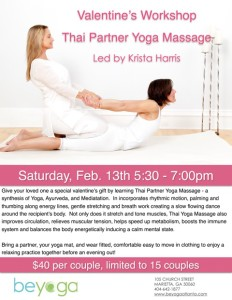 Valentine's Thai Yoga Massage